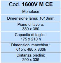 caratteristiche foto 1600 v